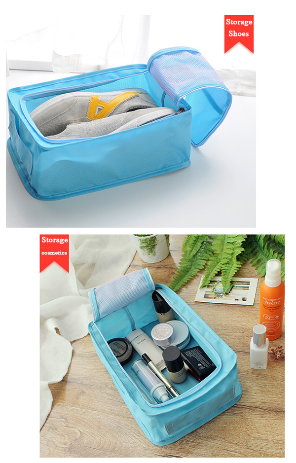 Multifunctional Travel Wash Cosmetic Bag Makeup Storage Shoes Bag