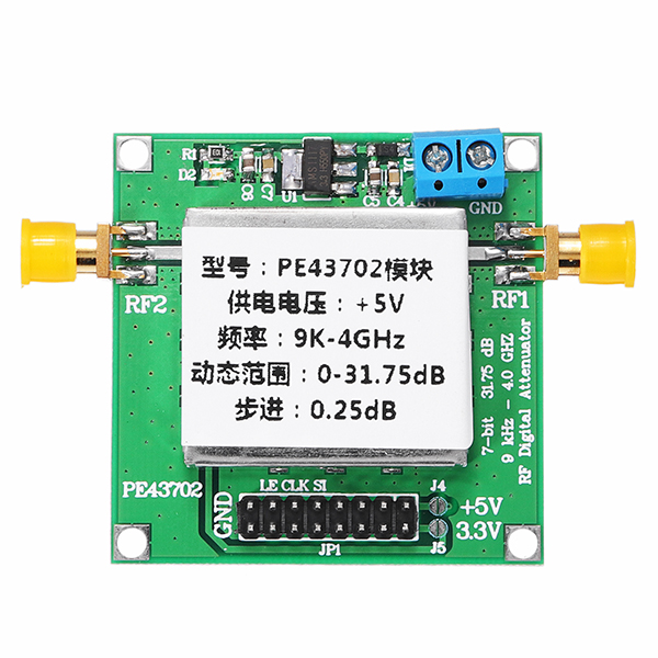 PE43702 9K-4GHz 0.25dB Stepping Precision 31.75dB Digital RF Attenuator Module