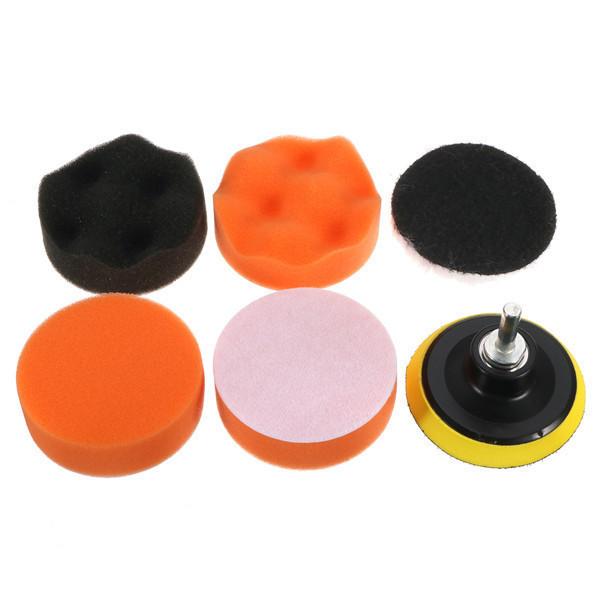7pcs Polish Wax Foam Sponge Pad with Drill Adapter