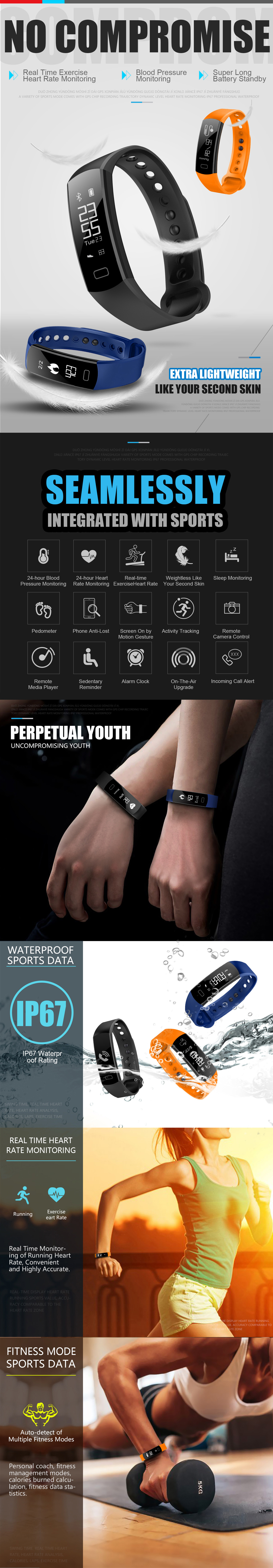 C07 Classic Real Time Heart Rate Monitor Smart Watch