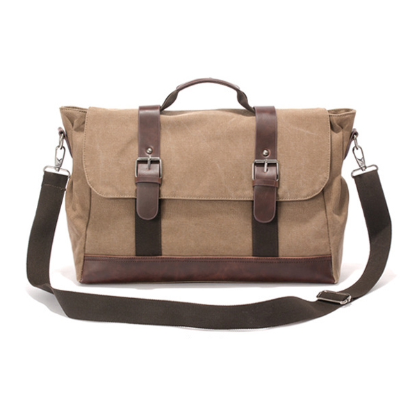 Men Canvas Retro Casual Multifunctional Messenger Outdoor Crossbody Bag Handbag