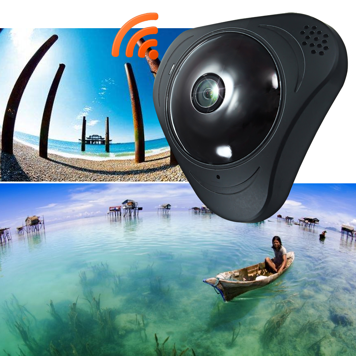 3D VR WIFI Camera 360 Degree Panoramic FIsheye 960P WIreless Indoor Security