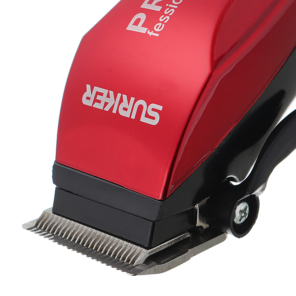 SURKER Red Pro Electric Hair Clipper Trimmer Sharp Blade Men Child Home Stylish Tools