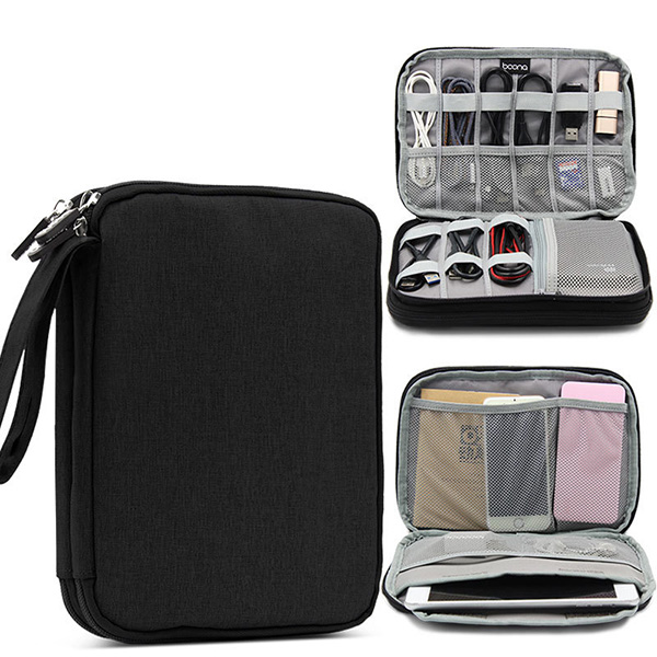 Multifunctional Oxford Store Bag Phone Bag Digital Line Storage Bag for Ipad