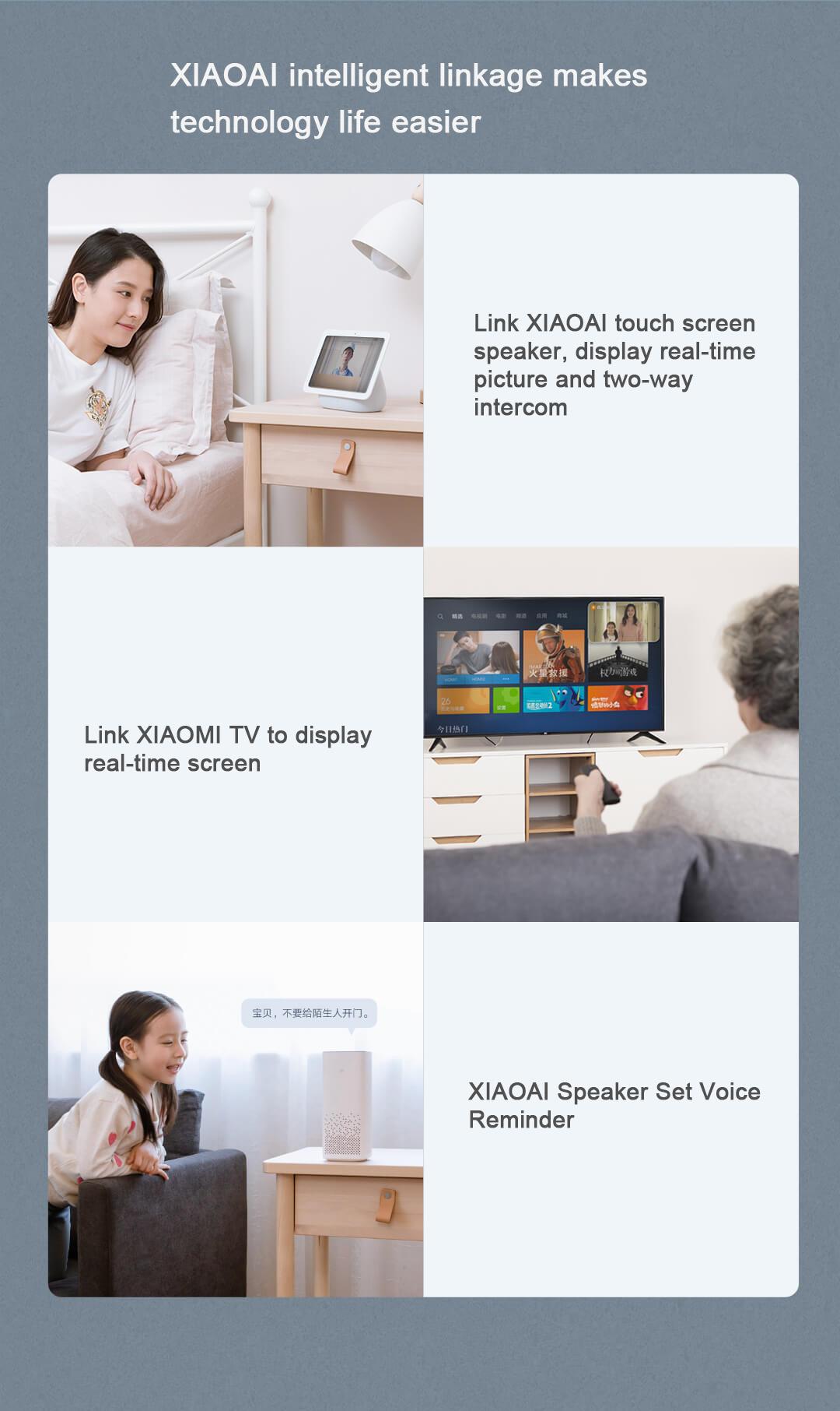 XIAOMI MIJIA 1080P HD Smart Video Doorbell 2 Infrared Night Vision Doorbell Two-Way Intercom Video Doorbell 139 ° HD Large Wide-Angle 1080P Intelligent AI Doorbell