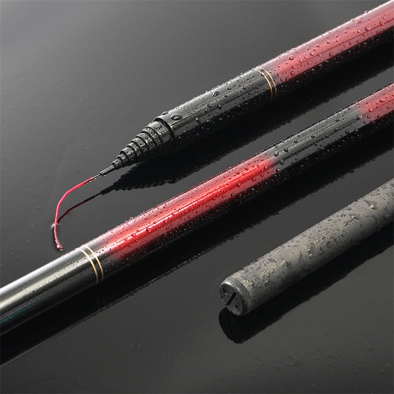 ZANLURE Carbon Fiber Telescopic Fishing Rod Ultralight Portable Stream Carp Hand Rod 2.7m-7.2m