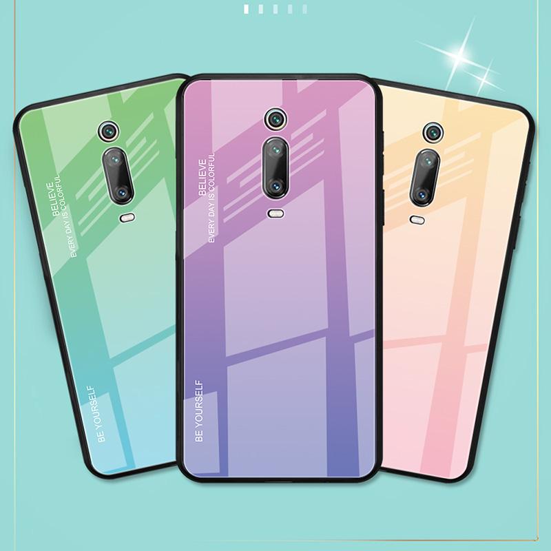 Bakeey Gradient Color Tempered Glass + Soft TPU Back Cover Protective Case for Xiaomi Mi 9T / Xiaomi Mi9T Pro / Xiaomi Redmi K20 / Redmi K20 PRO
