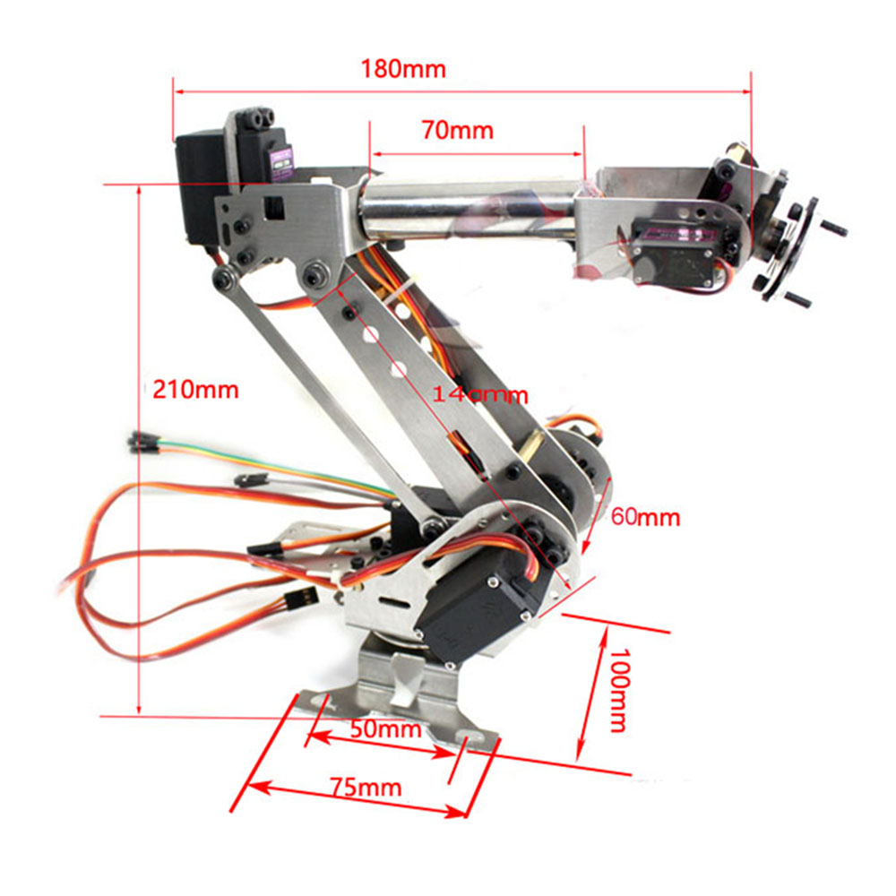 Original 6DOF DIY RC Robot Arm Educational Robot Kit With Digital