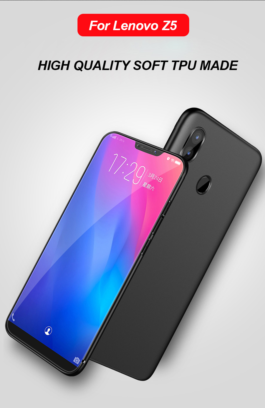 Bakeey Ultra-thin Soft TPU Mate Silky Back Cover Protective Case for Lenovo Z5