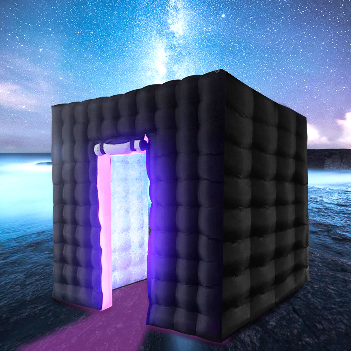 2.8M Inflatable LED Light Photo Booth Birthday Christmas Party Shooting Tent