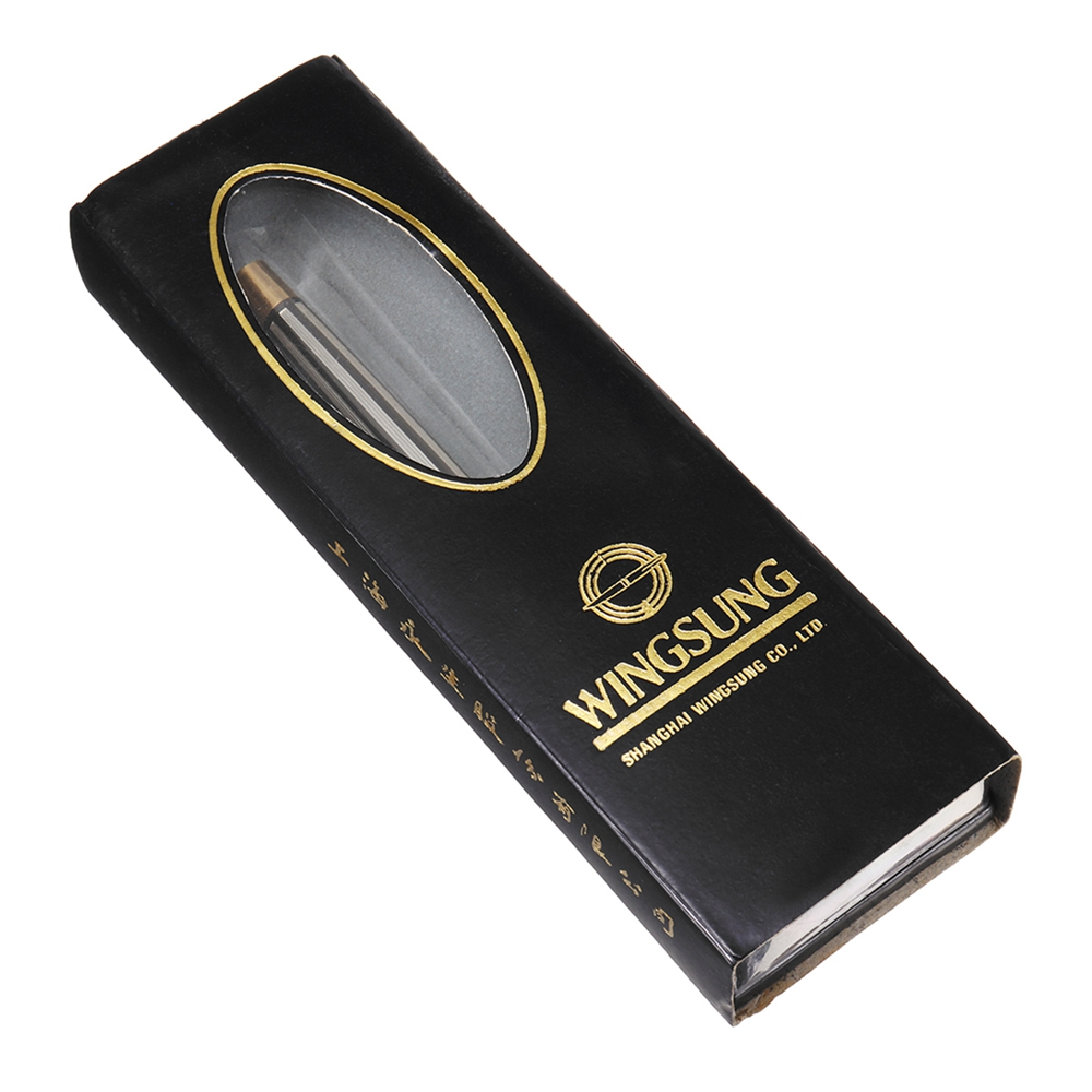 Wingsung 380 0.5mm Fine Nib Metal Fountain Pen Smooth Writing Ink Pen With Gift Box Students Gift