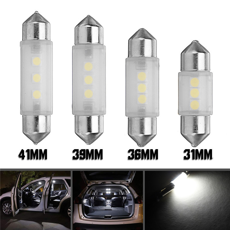 LED Featoon Dome Lights Car Interior Reading Map Lamp License Plate White 31/36/39/41mm