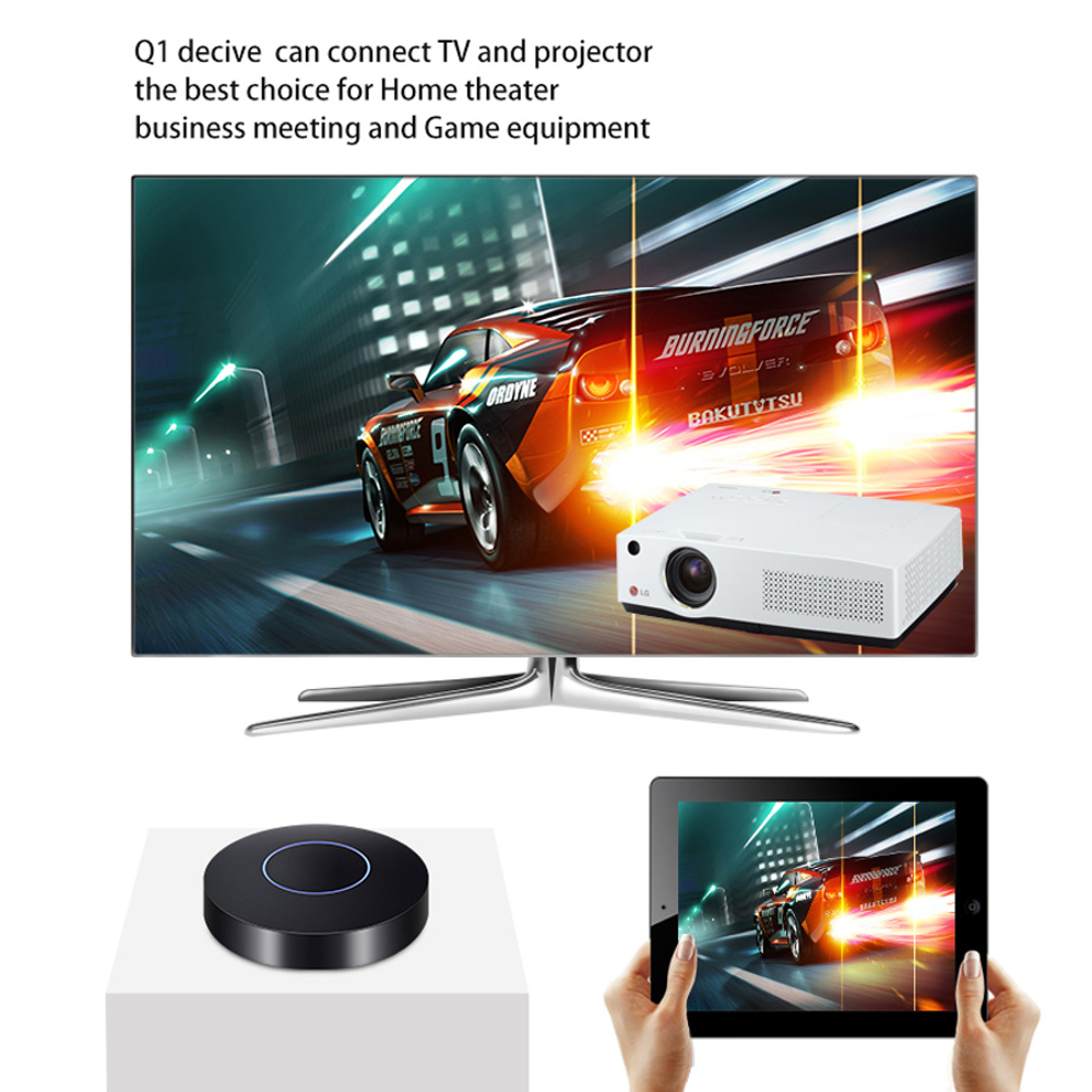 HD + AV Output Q1 Mirror TV Dongle Wifi Display Mini Receiver Car PC Android