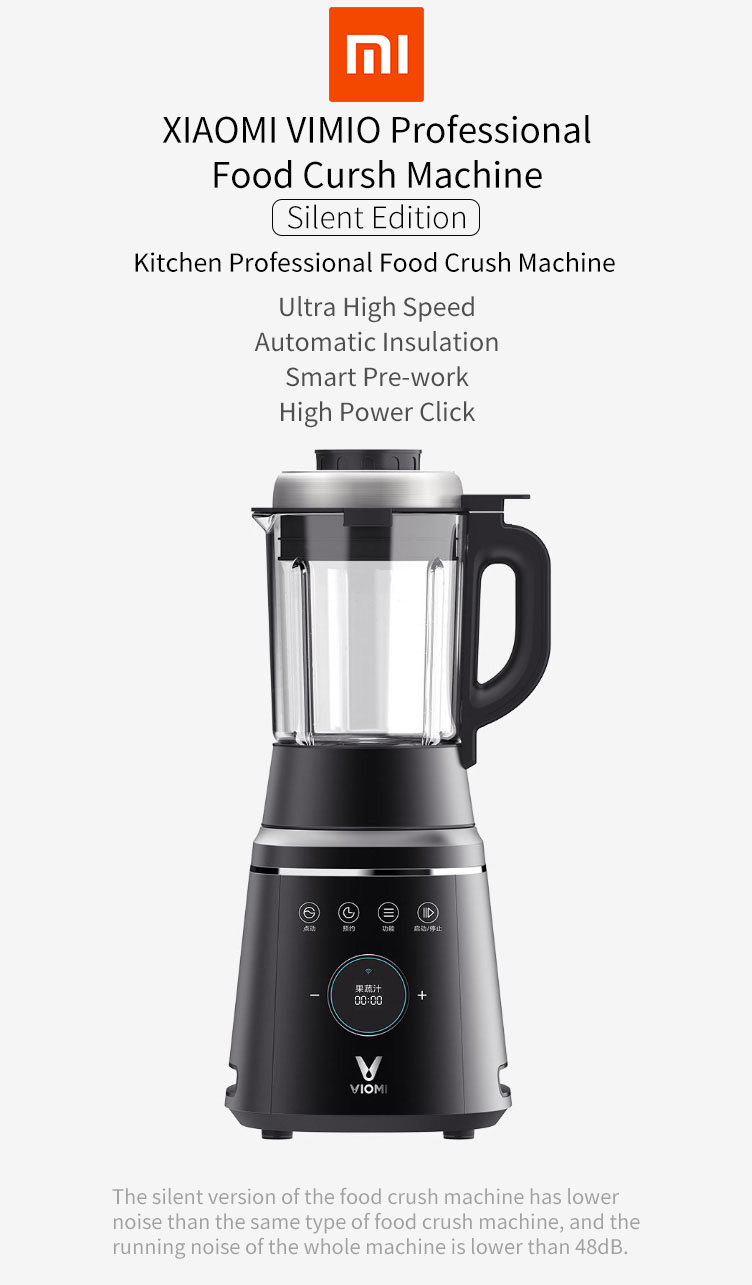 VIOMI VBH122 Smart Professional Food Crush Mahchine APP Control 1000W Food Low Noice Fruit Juicer Soymilk Machine Cooking Machine From XIAOMI Youpin