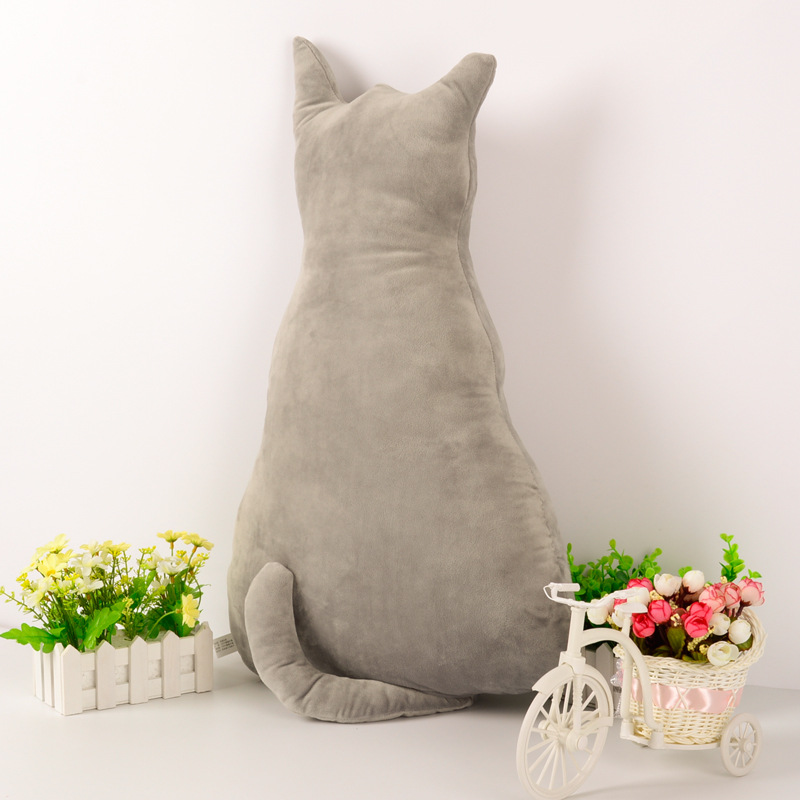 KCASA Super Cute Pillow Soft Plush Cat Back Sofa Pillow Cushion Plush Toys Stuffed Creative Retro Cat Sofa Pillow A-lice Back Cats Big Pillow Cats Dolls Plush Toys Cushions Dolls Gifts Dolls Toys