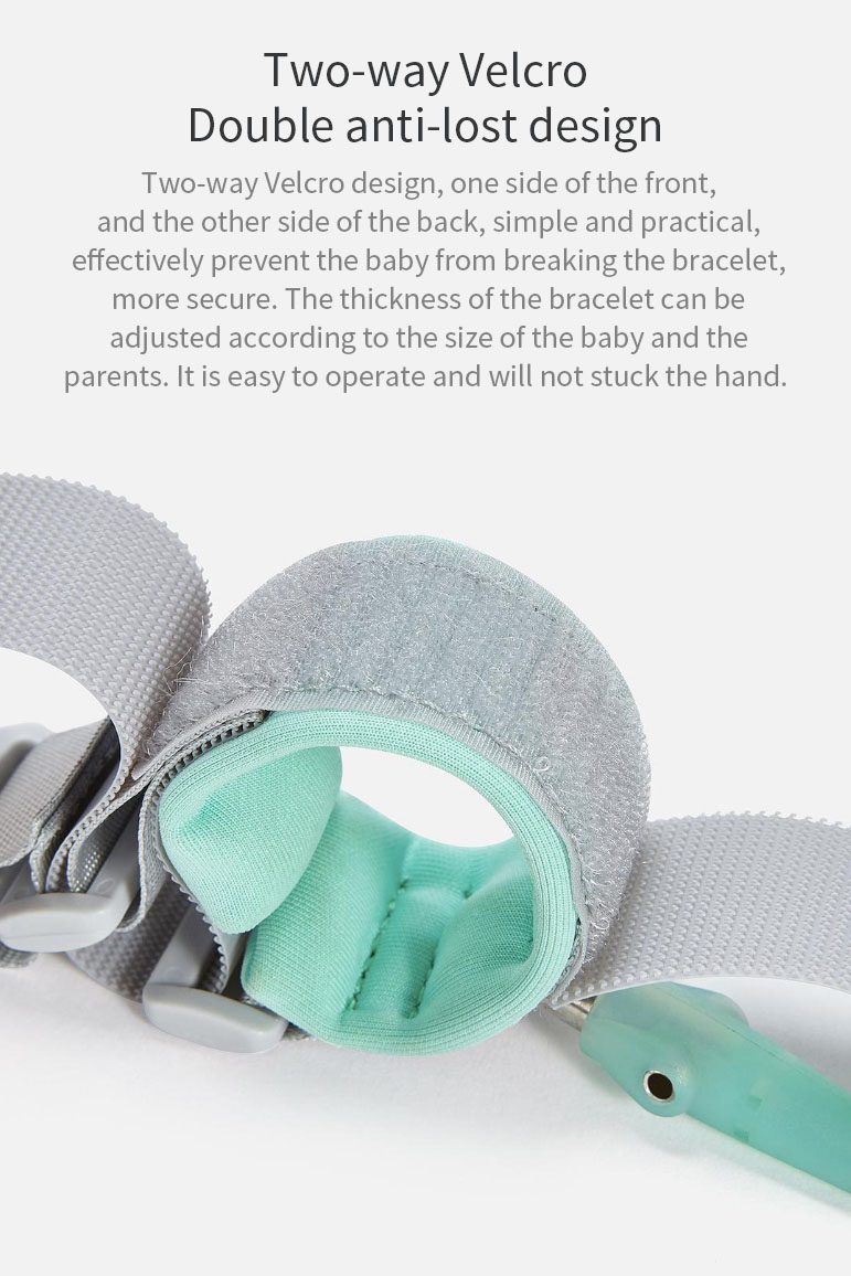 ZHIXING 2M Anti-lost Strap Bracelet Safety Adjustable Traction Rope for Mom Baby Kids Children Wristband From Xiaomi Youpin