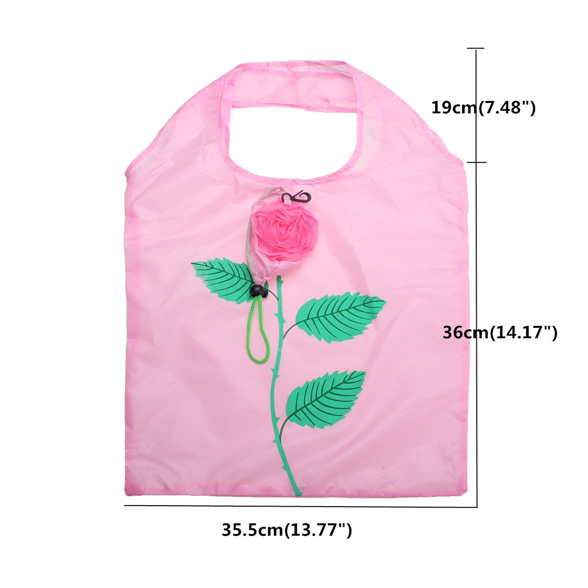 3Pcs Creative Rose Flowers Shopping Bag Reusable Storage Bags Folding Protable Travel Grocery Tote
