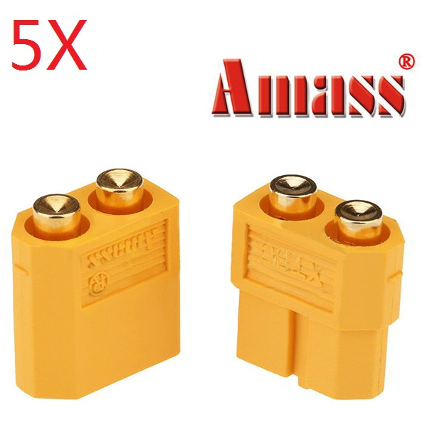 5 pair amass pcb dedicated xt60-p plug connector male & female for pcb board