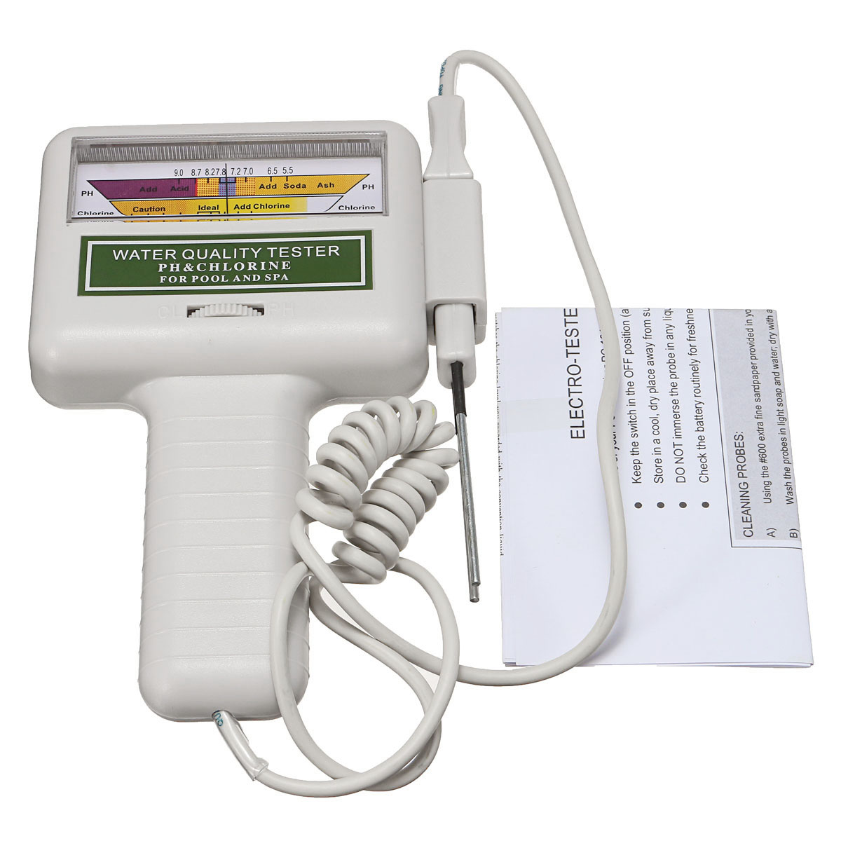 PC101 Water Quality Tester PH CL2 Chlorine Level Meter Monitor Swimming Pool Spa Tester