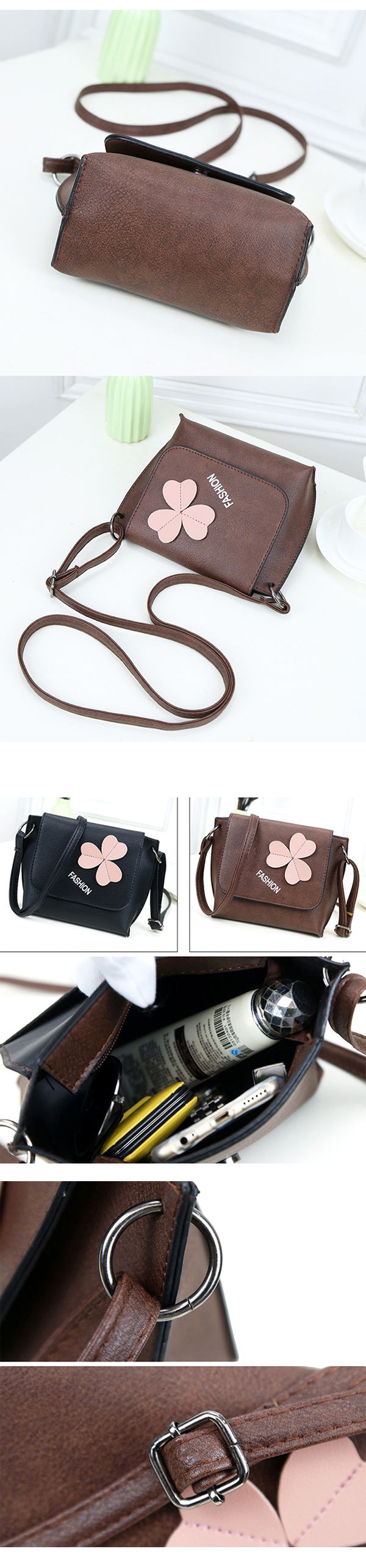 Women Stylish Flower Pattern Decorational Shoulder Bag