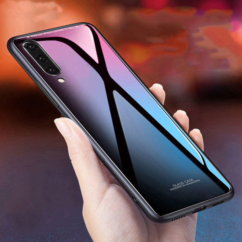Bakeey Shockproof Tempered Glass TPU Bumper Protective Case For Samsung Galaxy A70 2019