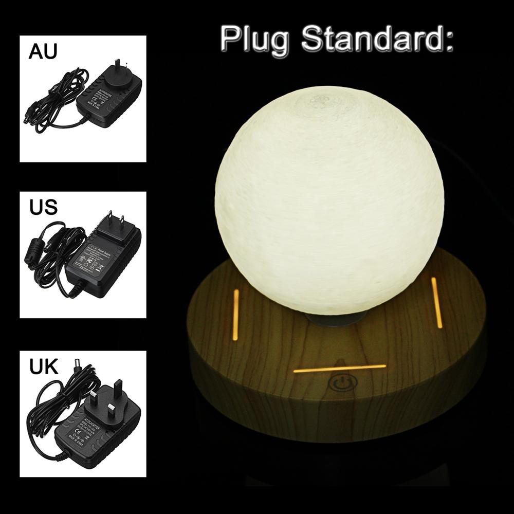 10cm 3D LED Moon Night Light Magnetic Levitating Floating Lamp Gift Home Desk Decor AC110-240V