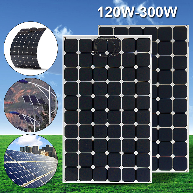 Elfeland SP-27 120W 19V Flexible Sunpower Solar Panel with 1.5m Cable For Home RV Boat