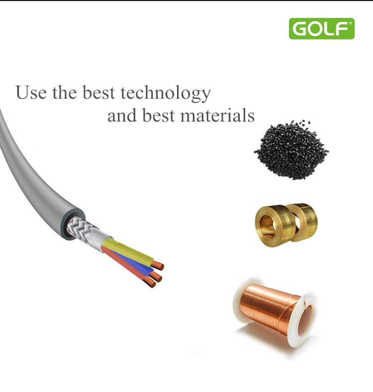 Original Golf 1m 3.3ft 3.5mm AUX Cable Gold Plated Portable Audio Extension Cable For Cell Phone Tablet Speaker