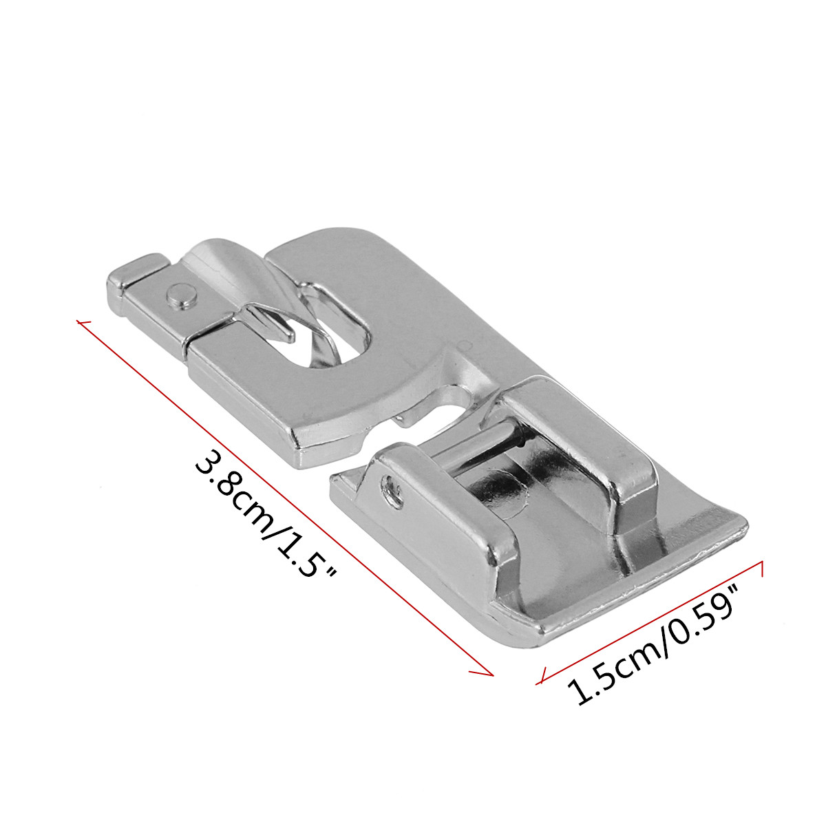 6mm Rolled Hem Foot Presser for Brother Singer Domestic Sewing Machine