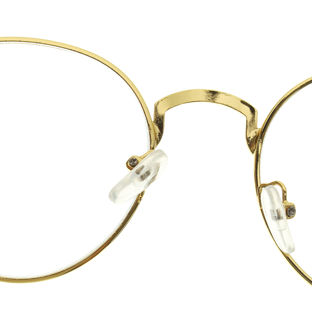 Women Retro Oval Gold Full Rim Eyeglass Men Frames Plain Clear Spectacle Glass