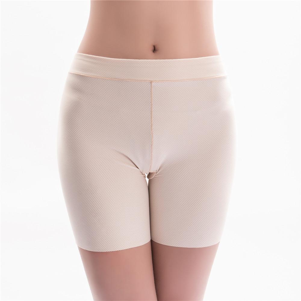 Ice Silk Widen Size Leggings Anti Emptied Seamless Panties