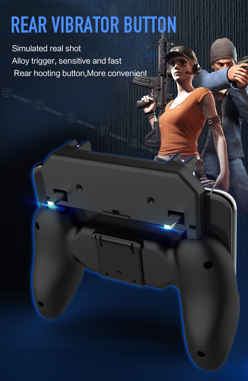 Bakeey Foldable Gamepad Joystick Game Controller Trigger Mobile Phone Holder For PUBG Phone Game