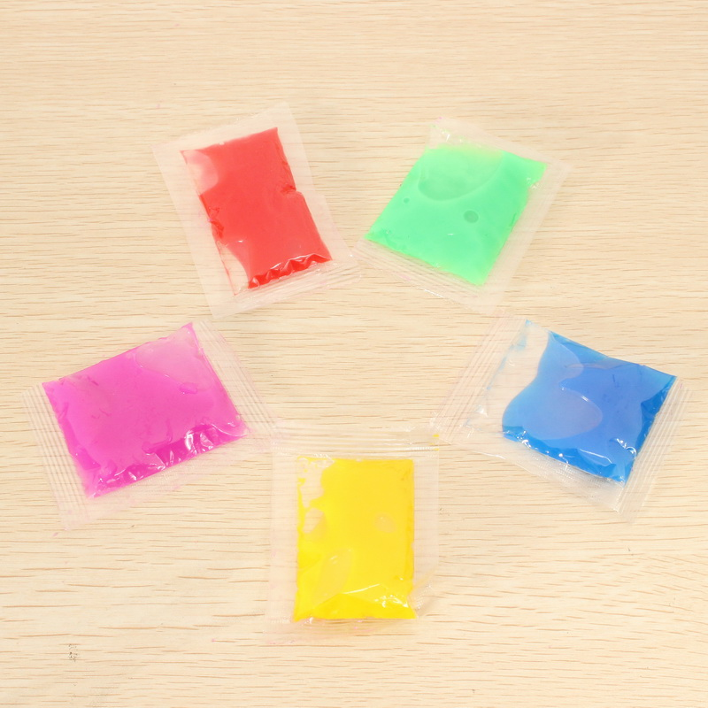 5PCS Slime Vomit For Squishy Vomitive Egg Yolk Stress Reliever Different Color