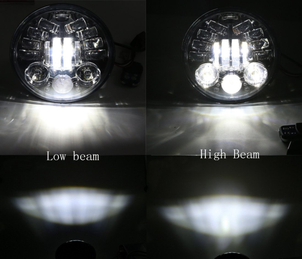 DC 10-32V 3450lm 7 inch Motorcycle Projector DRL LED Light Hi/Lo Beam Headlight For Harley