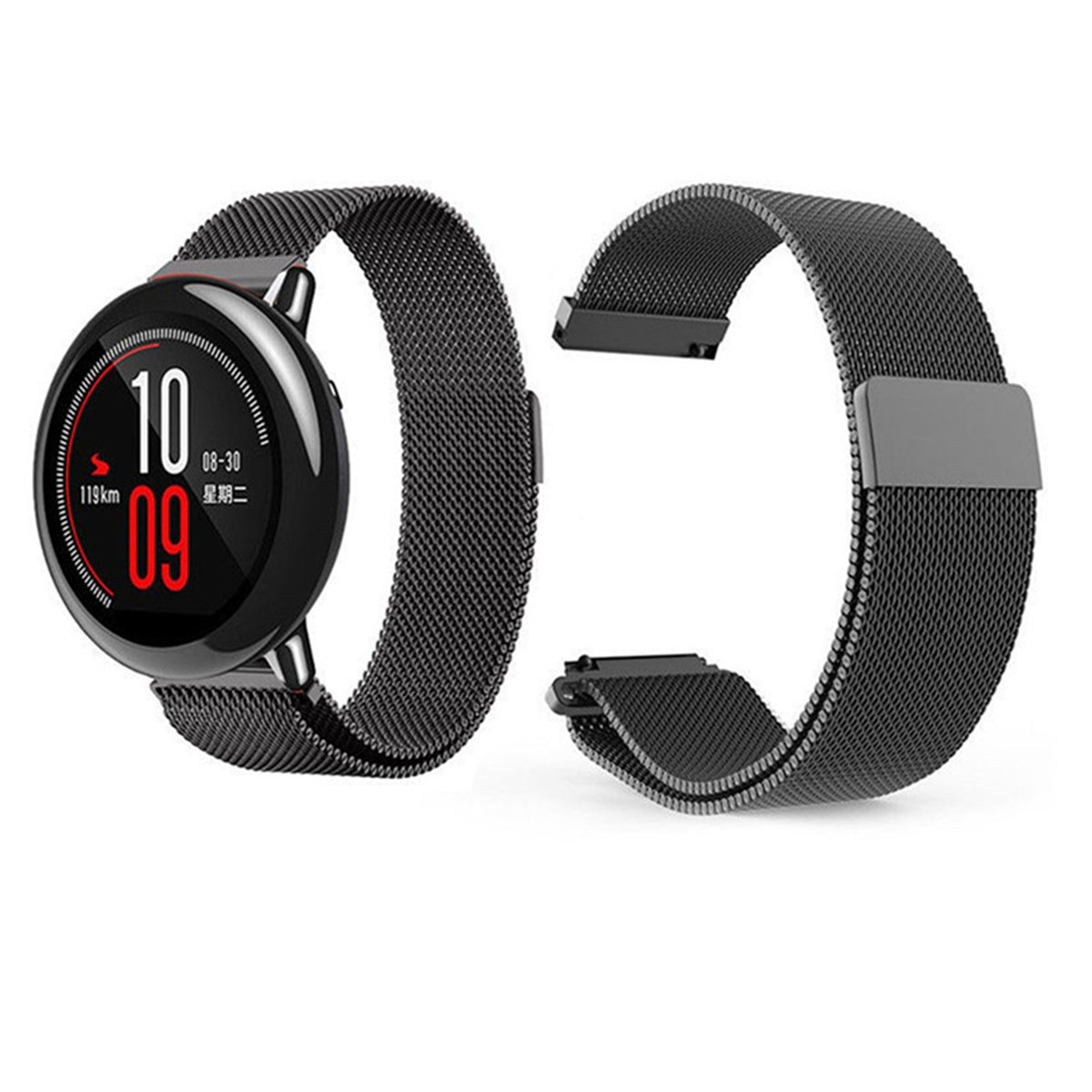 Milanese Magnetic Loop Stainless Steel Watch Band Strap For Xiaomi Huami Amazfit