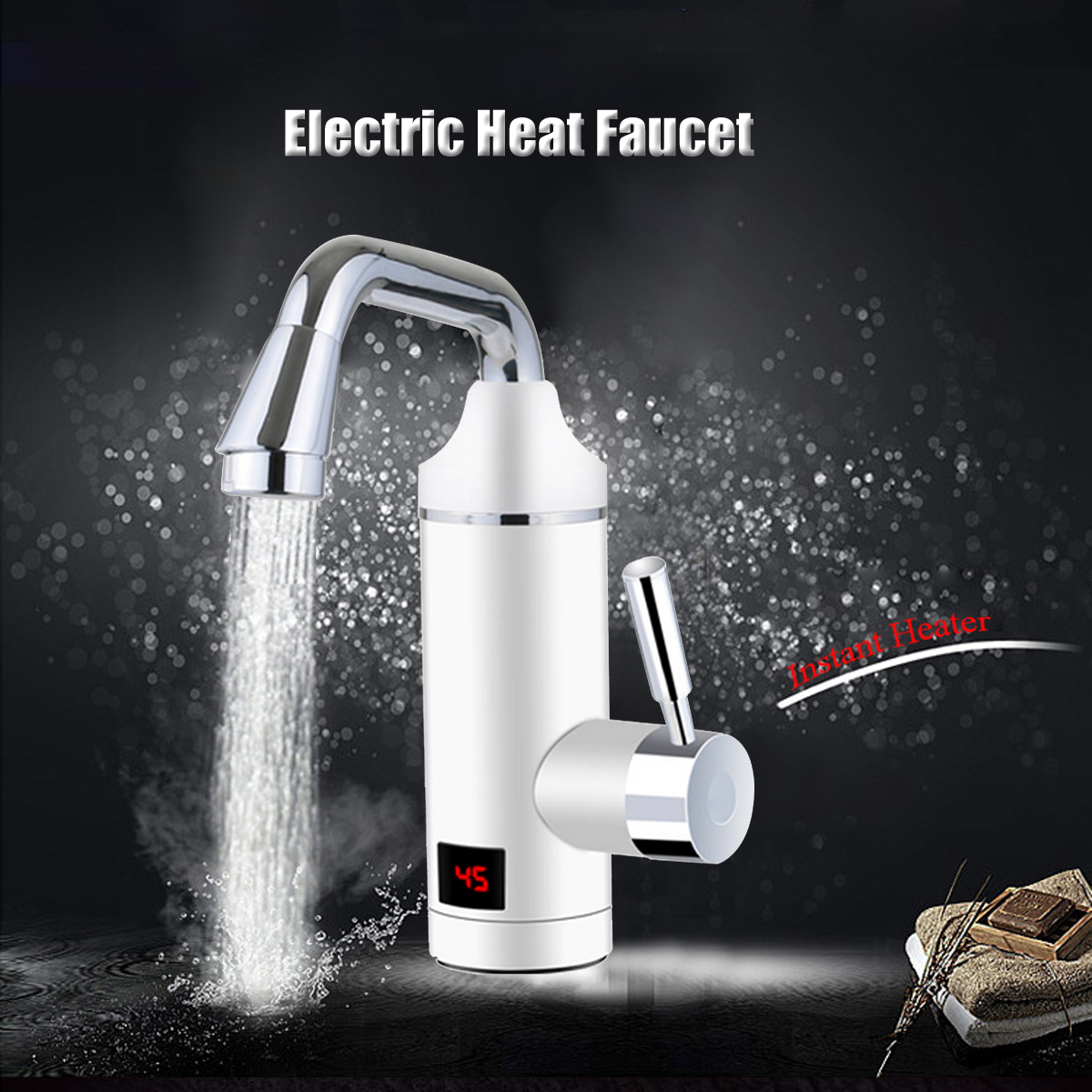 220V 2000W Household Electric Water Faucet Tap Hot Water Heater Instant