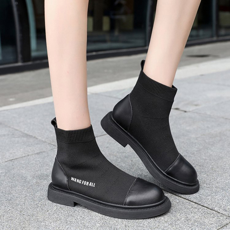 Round Toe Comfortable Casual Knitted Shoes