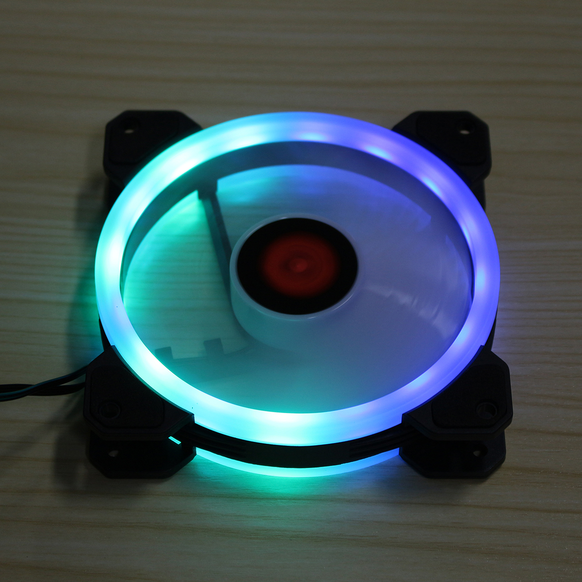 Coolmoon 1PCS 120mm Adjustable RGB LED Light Computer PC Case Cooling Fan