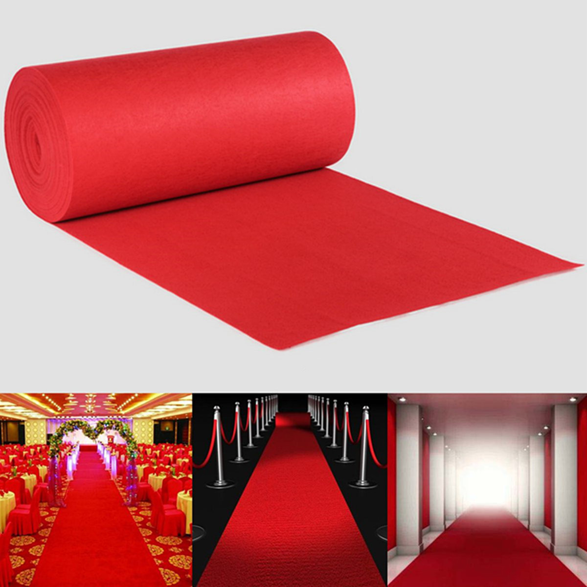 40ftx4ft Large Red Carpet Wedding Birthday Aisle Floor Runner Hollywood Party Decoration Prop