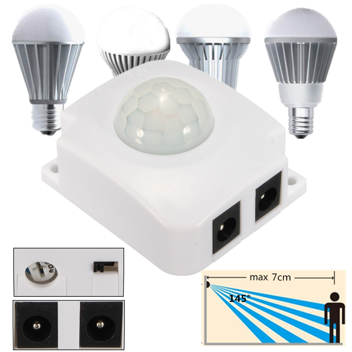 12V Automatic PIR Infrared Sensor Light Switch Save Energy Motion for LED Light Lamp