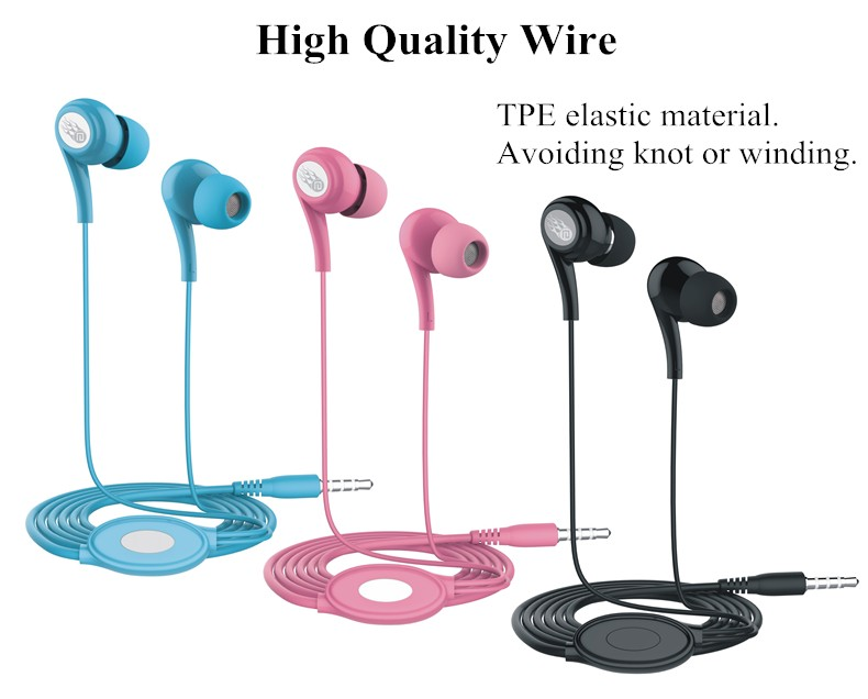 Langsdom JD91 3.5mm Stereo Earphone Hifi Earbuds Bass Headset with Microphone for iPhone Cell Phone