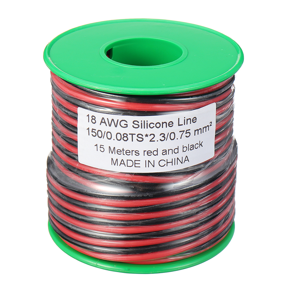 30m 18AWG Soft Silicone Line High Temperature Tinned Copper Flexible Cable Wire