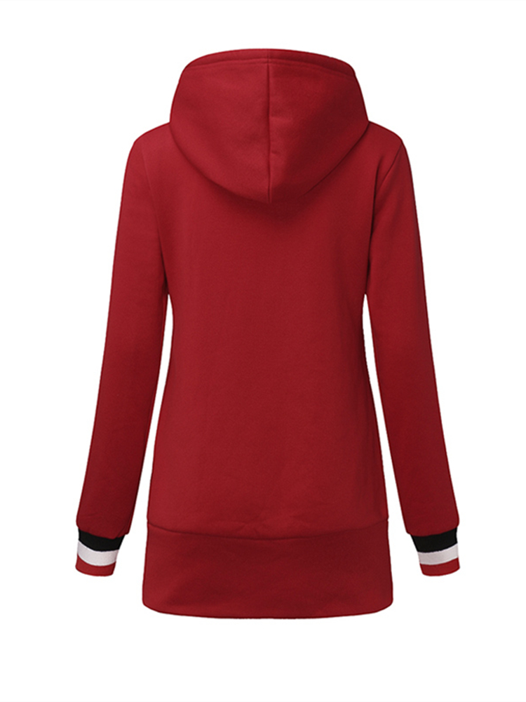 Womens Long Sleeve Fleece Casual Pullover Hoodies Outerwear Sweatshirts