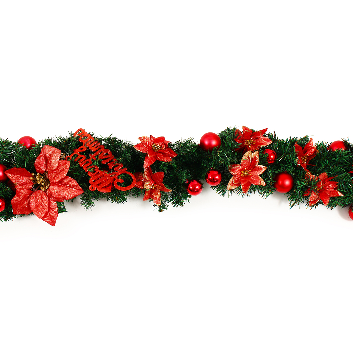2.7M Christmas Garland Party Atificial Rattan Bow Home Wall Ornament Decorations