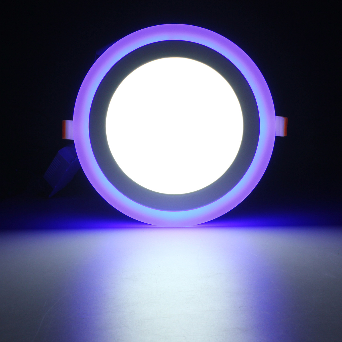 12W RGB Dual Color LED Recessed Ceiling Round Panel Down Light Lamp AC85-265V