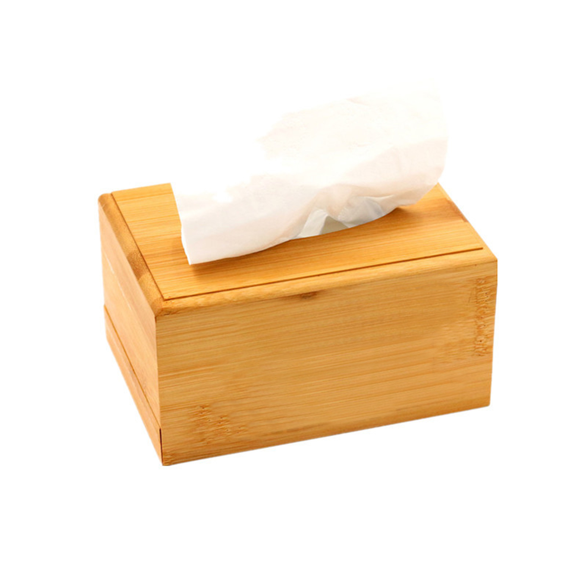 Creative Plain Wooden Tissue Box Cover Wood Holder Car Home Paper Storage