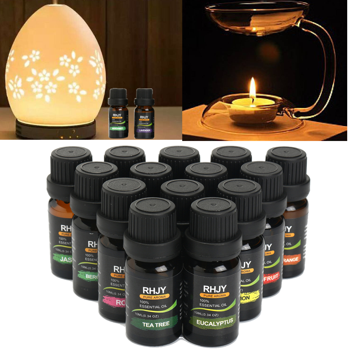 RHJY 14Pcs Aromatherapy Essential Oil