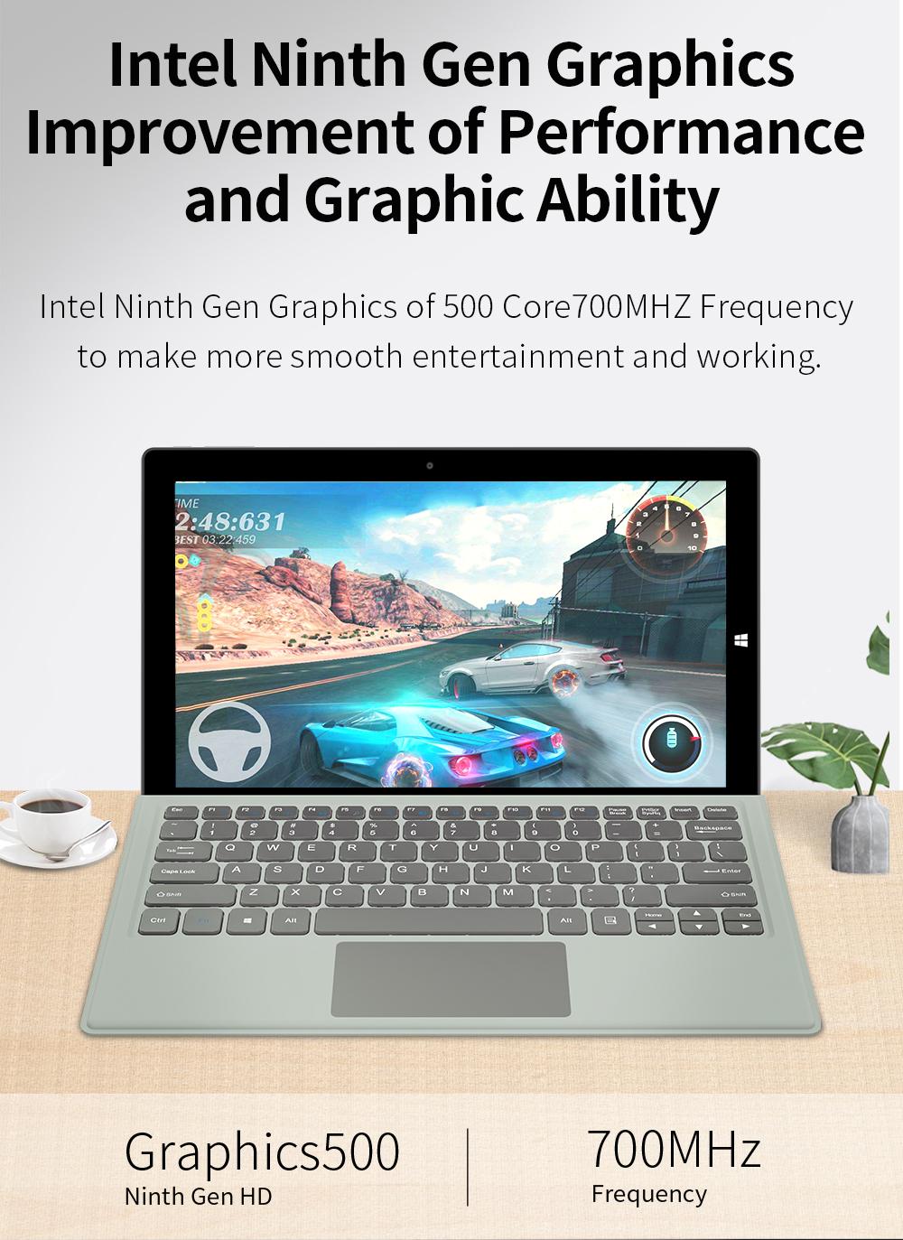 Jumper Ezpad go Apollo Lake N3450 Quad Core 4GB RAM 64GB ROM 11.6 Inch Windows 10 OS Tablet with Keyboard