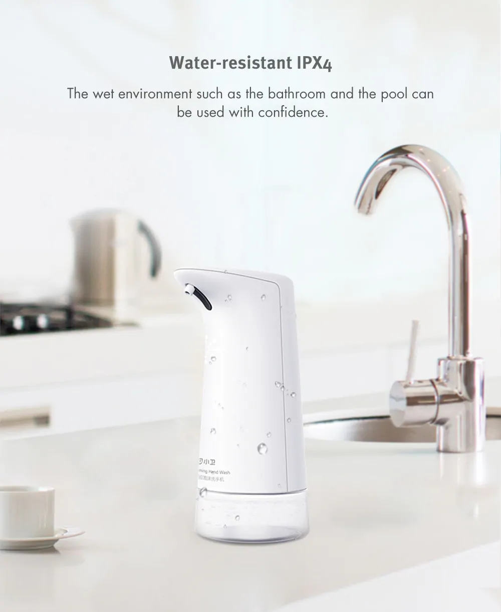 Xiaomi Xiaowei Intelligent Auto Soap Dispenser Foaming Hand Washing Machine WHITE