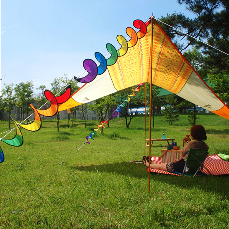 IPRee™ Colorful Flower Windmill Twister Spinner Camping Tent Festival Yard Garden Decoration